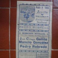 Tauromaquia: CARTEL DE TOROS SEVILLA 1947. Lote 45497442