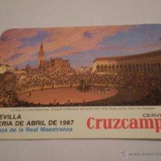 Tauromaquia: PROGRAMA CORRIDAS FERIA DE ABRIL.MAESTRANZA SEVILLA.1987.CURRO ROMERO.ORTEGA CANO.ESPARTACO.. Lote 45692632