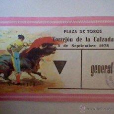 Tauromachia: ENTRADA USADA TOROS PLAZA TORREJON CALZADA 5 SEP 1978 . Lote 46028463