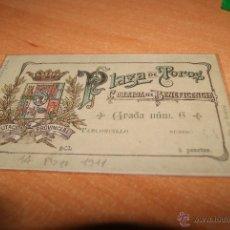 Tauromaquia: ENTRADA DE TOROS DE MADRID GRAN CORRIDA DE LA BENEFICENCIA 1911. Lote 46034255