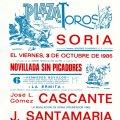 Tauromaquia: Cartel novillada en Soria - año 1986 - con 'Yo, Manolo', presentado como Hijo de 'El Cordobés'. Lote 46296963