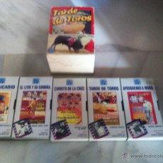 Tauromaquia: 5 VHS TARDE DE TOROS. Lote 47021085