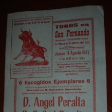 Tauromaquia: PLAZA DE TOROS DE SAN FERNANDO( CÁDIZ).ANGEL PERALTA-RAFAEL PERALTA.AÑO 1977. Lote 47111333