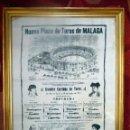 Tauromaquia: EXTRAORDINARIO CARTEL EN SEDA, INAUGURACIÓN PLAZA DE TOROS DE LA MALAGUETA 1876. Lote 47135341
