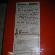 Tauromaquia: PLAZA DE TOROS DE JEREZ DE LA FRONTERA.ESPECTACULO TAURINO-CÓMICO NOCTURNO.AÑO 1956. Lote 47240479