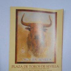 Tauromaquia: ABONO TEMPORADA 2003. PLAZA DE TOROS EN SEVILLA. LA MAESTRANZA. PROGRAMA. TDKP2. Lote 47301189