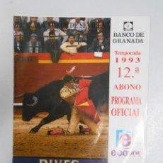 Tauromaquia: PROGRAMA PLAZA DE TOROS SEVILLA. FERIA DE ABRIL. 30. 1993. JOSELITO. LITRI. JESULIN DE UBRIQUE TDKP2. Lote 47321792