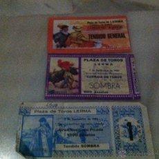 Tauromaquia: 3 ENTRADAS PLAZA DE TOROS DE LERMA SEPTIEMBRE 1980,SEPTIEMBRE 1996,SEPTIMBRE 1986. Lote 47419141