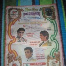 Tauromaquia: CARTEL PAÑUELO CORRIDA DE TOROS (PLAZA DE TOROS POZOBLANCO) 1994. Lote 47609304