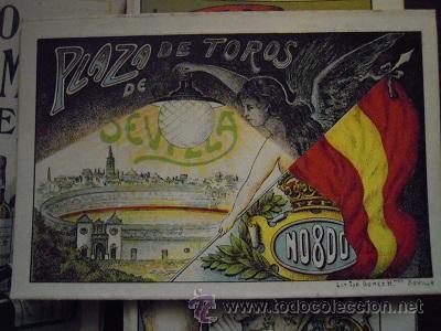 Tauromaquia: Colección de 25 programas de mano de la temporada 1914 de la Plaza de Toros de Sevilla. - Foto 10 - 47780997