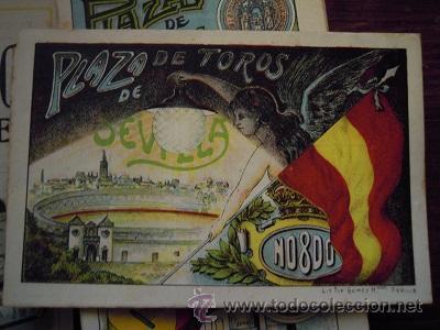 Tauromaquia: Colección de 25 programas de mano de la temporada 1914 de la Plaza de Toros de Sevilla. - Foto 12 - 47780997
