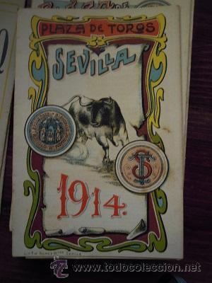 Tauromaquia: Colección de 25 programas de mano de la temporada 1914 de la Plaza de Toros de Sevilla. - Foto 14 - 47780997