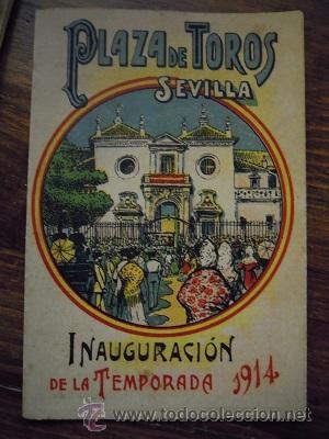 Tauromaquia: Colección de 25 programas de mano de la temporada 1914 de la Plaza de Toros de Sevilla. - Foto 22 - 47780997