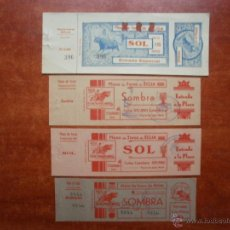 Tauromaquia: LOTE DE 4 ENTRADAS PLAZA TOROS DE ECIJA ENTRADA AÑO 1940 Y 1941. Lote 47943180