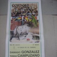 Tauromaquia: CARTEL PLAZA DE TOROS DE CORDOBA.- 26 MAYO 1988.- DAMASO GONZALEZ, TOMAS CAMPUZANO Y EMILIO OLIVA. Lote 47957671