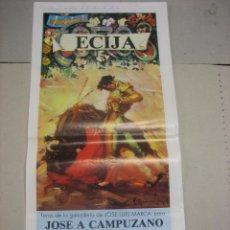 Tauromaquia: CARTEL PLAZA DE TOROS DE ECIJA.- FERIA MAYO 1989.- JOSE A. CAMPUZANO, ESPARTACO Y M. BAEZ LITRI. Lote 47957873