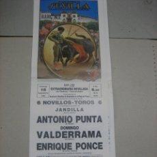 Tauromaquia: CARTEL PLAZA DE TOROS DE SEVILLA.- 18 SEPTIEMBRE 1988.- PUNTA, VALDERRAMA Y ENRIQUE PONCE. Lote 47977402