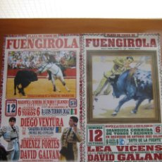 Tauromaquia: PLAZA DE TOROS DE FUENGIROLA (LOTE 2 CARTELES DE CORRIDAS TAURINAS). Lote 135768523