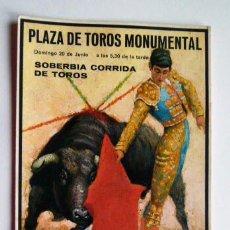 Tauromaquia: POSTAL CARTEL TAURINO- ANDRES VAZQUEZ - RICARDO DE FABRA - DAMASO GONZALEZ . Lote 48687414