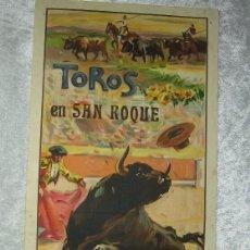 Tauromaquia: CARTEL TAURINO PLAZA TOROS SAN ROQUE - AGOSTO 1947 - ANTONIO BIENVENIDA - JOSE LUIS VAZQUEZ. Lote 48753765