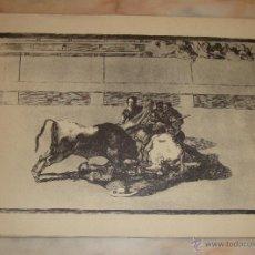 Tauromaquia: INTERESANTE LAMINA GRABADO TEMA TAUROMAQUIA. Lote 48925622