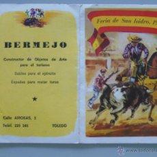 Tauromaquia: PROGRAMA DE MANO DE FERIA TOROS. TAUROMAQUIA. PLAZA TOROS. MADRID. SAN ISIDRO. AÑO 1967. BERMEJO. Lote 49295540