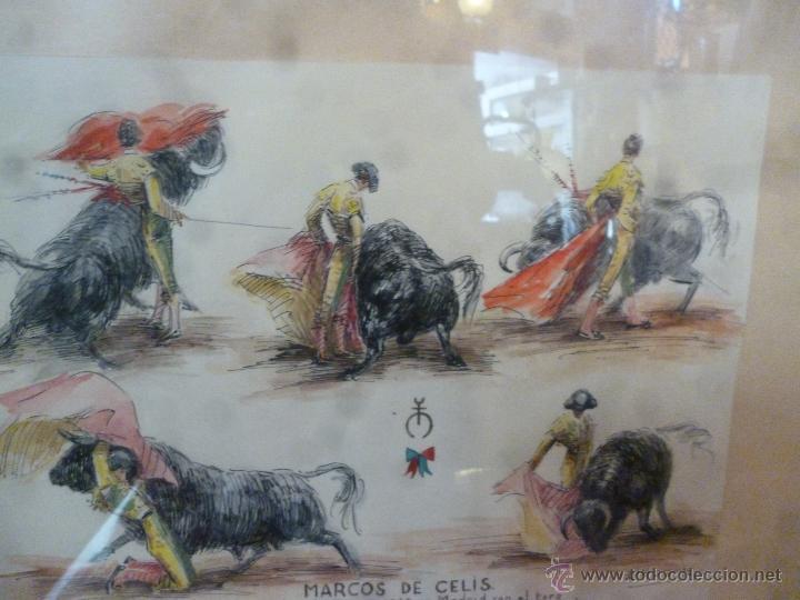 PLUMILLA TAURINA A COLOR DE ALFREDO MARTOS (Coleccionismo - Tauromaquia)