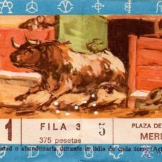 Tauromaquia: MERIDA,BADAJOZ,1971, ENTRADA DE TOROS, PACO CAMINO,PAQUIRRI, DAMASO GONZALEZ. Lote 49748150