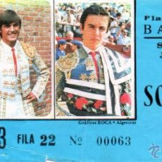 Tauromaquia: ENTRADA DE TOROS, BADAJOZ, 27 DE JUNIO DE 1987. Lote 194768793