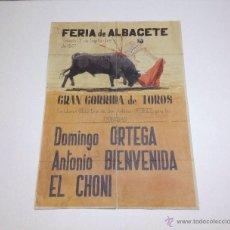 Tauromaquia: FERIA DE ALBACETE GRAN CORRIDA DE TOROS 13/9/1947 CARTEL Y ENTRADAS. Lote 50128958