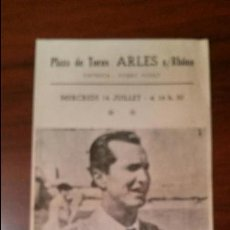 Tauromaquia: PLAZA DE TOROS ARLES 14 JUILLET-REAPPARITION LUIS MIGUEL.DOMINGUIN-AVEC MARQUEZ-PARADA-11X21. Lote 50368876