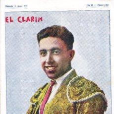 Tauromaquia: REVISTA EL CLARIN, VALENCIA 21 MAYO 1927. Lote 50448023