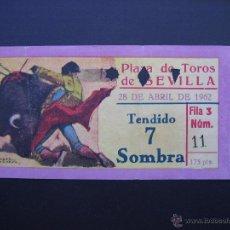 Tauromaquia: ENTRADA PLAZA DE TOROS DE SEVILLA 1962. Lote 50482443
