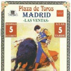 Tauromaquia: PROGRAMA OFICIAL DE MANO - EN LAS VENTAS -GRAN CORRIDA DE TOROS - 5 - 10 -1997. Lote 51009767