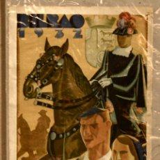 Tauromaquia: CARTEL EN SEDA CORRIDAS DE TOROS. BILBAO. AÑO 1932. Lote 57187576