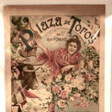 Tauromaquia: CARTEL PLAZA DE TOROS DE BAYONNE. BAYONA. AÑO 1905. Lote 51177333