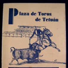 Tauromaquia: ANTIGUO CARTEL-PROGRAMA PLAZA DE TOROS DE TETUAN. CLUB HIPICO MADRILEÑO.1935. BECERRADA TAURINA. Lote 51204999