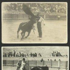 Tauromaquia: LOTE DE 2 ANTIGUAS POSTALES 1940 TOROS TAUROMAQUIA TORERO TOREO LIDIA CORRIDA AÑOS 40 PALMA MALLORCA. Lote 51221000
