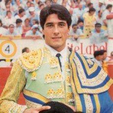 Tauromaquia: SEVILLA , CARTEL FERIA DE SEVILLA 1987, EMILIO OLIVA, 105X150 MM. Lote 51349957