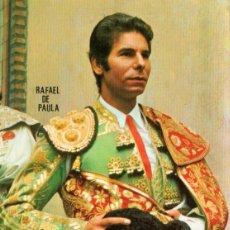 Tauromaquia: SEVILLA , CARTEL FERIA DE SEVILLA 1987, RAFAEL DE PAULA, 105X150 MM. Lote 51349962