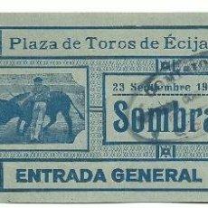 Tauromaquia: ENTRADA DE TOROS DE - ECIJA - SEVILLA . DEL 23 - SEPTBRE DE 1929- SOMBRA. Lote 51630792