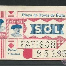 Tauromaquia: ENTRADA DE TOROS DE - ECIJA - SEVILLA . DEL 9 - MAYO 1936- SOL. Lote 51630821