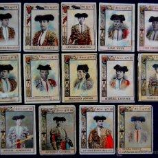 Tauromaquia: 14 CROMOS-FOTOTIPIAS DE CAJAS DE CERILLAS. TOREROS. SERIE 14. AÑOS 20. FOSFORERA ESPAÑOLA. (TAURINO). Lote 51773157