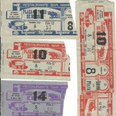 Tauromaquia: LOTE DE 10 ENTRADAS LA PLAZA DE MADRID DISTINTAS CORRIDAS DEL AÑO 1967. Lote 51882365