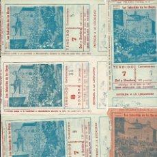 Tauromaquia: LOTE DE 6 ENTRADAS LA PLAZA DE SAN SEBASTIAN DE LOS REYES DISTINTAS DEL AÑO 1967 . Lote 51883656