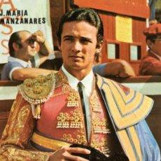 Tauromaquia: SEVILLA , CARTEL FERIA DE SEVILLA 1988, JOSE MARIA MANZANARES, 105X150 MM. Lote 51941599