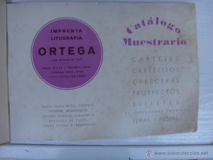 Tauromaquia: CATALOGO TOROS, IMPRENTA ORTEGA 1955 , PROPAGANDA TAURINA, CARTELITOS,PROSPECTOS, ENTRADAS ,ORIGINAL - Foto 2 - 52371538