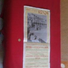 Tauromaquia: CARTEL PLAZA DE TOROS DE RONDA MALAGA 1992 XXXVI TRADICIONAL CORRIDA GOYESCA TORO TAUROMAQUIA IDEAL . Lote 52624984