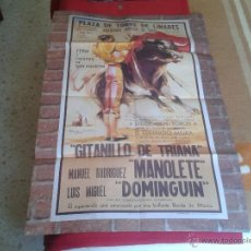 Tauromaquia: BONITA REPRODUCCION CARTEL DIA DE LA MUERTE DE MANOLETE PLAZA DE TOROS DE LINARES JAEN 1947 IDEAL CO. Lote 61311078