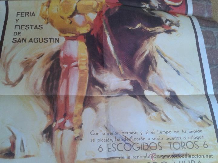 Tauromaquia: BONITA REPRODUCCION CARTEL DIA DE LA MUERTE DE MANOLETE PLAZA DE TOROS DE LINARES JAEN 1947 IDEAL CO - Foto 4 - 61311078